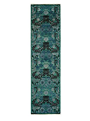 Darya Rugs Arts & Crafts Handmade Rug, Blue, 2' 7