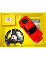 Rechargeable Steering wheel shaped remote control car (color may vary)