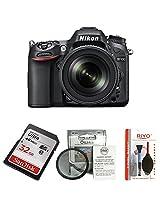 Nikon D7100 24.1MP Digital SLR Camera (Black) with AF-S 18-105mm VR Lens + 4GB Card + Camera Bag + Basic Accessory Kit - SanDisk 32GB Ultra SDHC + Osaka 52mm UV Filter and Riyo Cleaning Kit