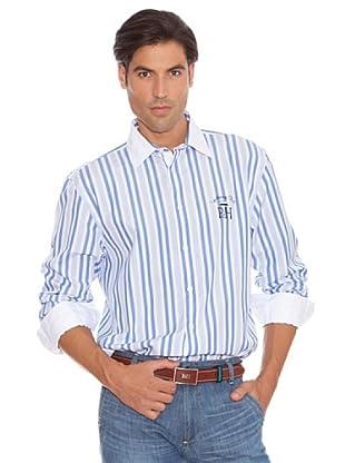 PEDRO DEL HIERRO Camisa Doble Raya (azul / gris)