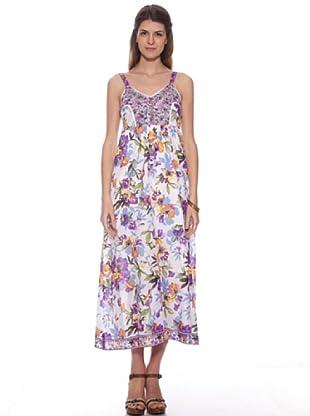 HHG Kleid Acacia (weiß / violett)