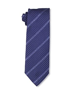 Moschino Men's Logo Stripe Tie, Blue/Blue