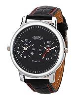 Exotica Analog Black Dial Men's Watch (EF-82-Dual-Black)