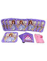 Princess Sofia the 1st Birthday Plate, Napkin, Knife, Fork and Spoon Party Set for 8