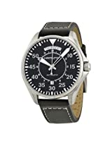 Hamilton Khaki Pilot Automatic Black Dial Black Leather Men'S Watch - Hml-H64615735