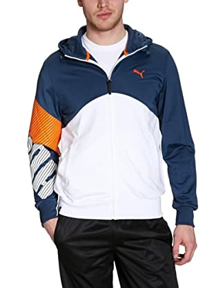 Puma Jacke Graphic Hooded Track (dark denim-vibrant orange)