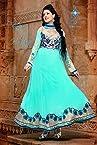 Kumud Latest Designer cyan Heavy Embroidered Anarkali suit