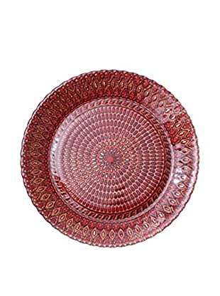 Hand Painted Spun Glass Side Plate, Berry, Set of 4