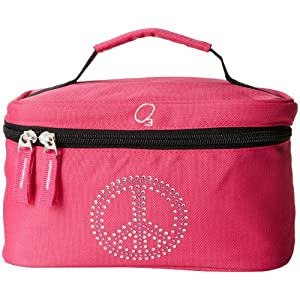 Obersee Kids Toiletry and Accessory Bag, Bling Rhinestone Peace