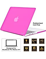 "AirPlus: AirCase - Rubberized Hard Case/ Hard Shell Cover for 15.4"" Apple MacBook Pro 15 with Retina Display (Models: A1368), Satin Feel, Color: HOTPINK"