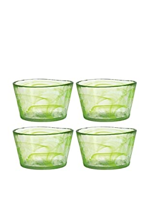 Orrefors Set of 4 Small Mine Bowls (Lime)
