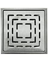 Aquieen Stainless Steel Floor Grating (Silver, fern)