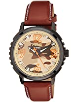 Helix Analog Brown Dial Men's Watch - TW025HG04
