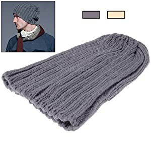 Stylish Stripes Style Woolen-knitting Winter Hedging Cap for Man (Random Color Delivery)