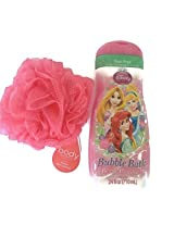 Disney Princess Berry Bouquet Bubble Bath And Bath Sponge Bundle