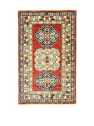 L'EDEN DEL TAPPETO Alfombra Kazak Super Rojo/Multicolor 55 x 88 cm