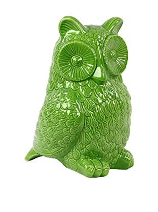 Ceramic Owl, Green