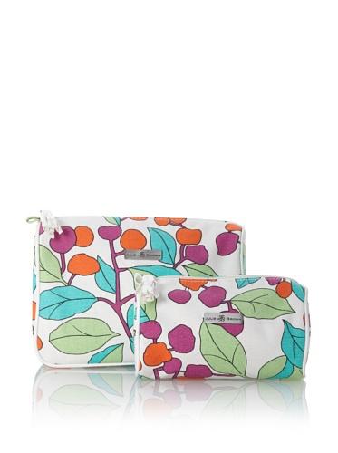 Julie Brown Set of 2 Cosmetic Bags (Cherry Tree)