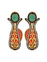 Dilan Jewels KNOWLEDGE Collection Multicolour Gold Plated Fancy Party Earrings For Women