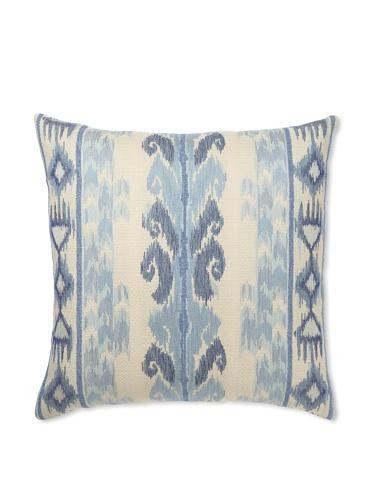 Elsa Blue Ikat Ocean Knife Edge Indoor/Outdoor Pillow, 20