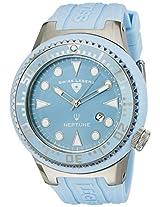 Swiss Legend Men's 21818D-012 Neptune Light Blue Dial Light Blue Silicone Watch