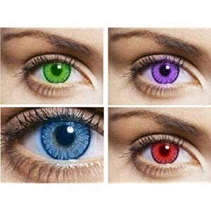 Celebration Daily Color Contact Lens ( 10 Lenses / Box) Purple Aura One Day