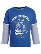 Ollypop T-Shirt Full Sleeves Baby Original Print - Blue
