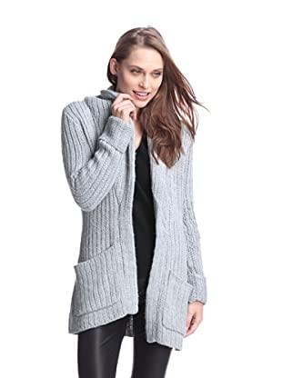 AS by DF Women's Sofia Long Cardigan (Steel Sky Blue)