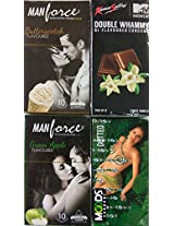 42 Pcs New Combo of Condoms Multi Flavoured combo Manforce Butterscotch and Green apple and Kamasutra Double Whammy and Smooth 100% private shipping and Concealed Shipping