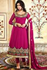 Pink Faux Georgette Anarkali Suit