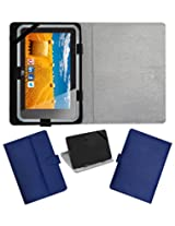 ACM LEATHER FLIP FLAP TABLET HOLDER CARRY CASE STAND COVER FOR HCL ME CONNECT 3G 2.0 Y4 BLUE