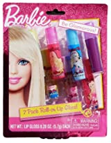 Barbie Roll - On Lip Gloss - 7 Pack Lip Gloss With 5 Unique Flavors