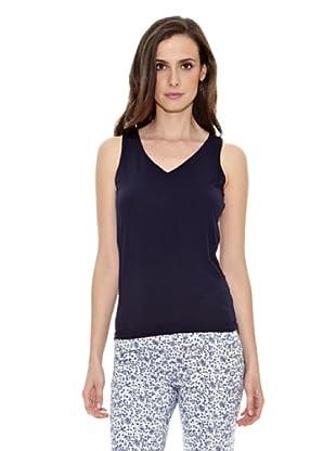Cortefiel Camiseta Básica Tirante A (Azul Marino)