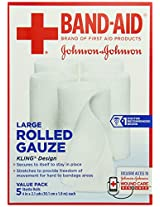 Band-Aid First Aid Covers Kling Large Rolled Gauze, 5 Count