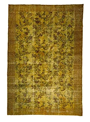 nuLOOM One-of-a-Kind Hand-Knotted Overdyed Floriane Rug, Dark Yellow, 6' 1