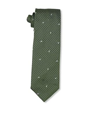 Moschino Men's Checkered Tie, Green