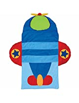 Stephen Joseph Airplane Nap Mat, Blue/Red Personalized Ethan
