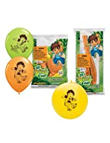 Pioneer National Latex Go Diego Go Party Pack (6 Balloons/4 Punch Balls)