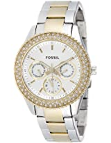 Fossil Stella Analog Silver Dial Women's Watch - ES2944