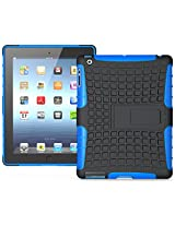 Heartly Flip Kick Stand Hard Dual Armor Hybrid Bumper Back Case Cover For Apple iPad Mini 2 Tablet With Retina Display - Blue