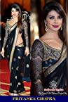 Priyanka Chopra Bollywood Replica Black Dhupion and Net Saree