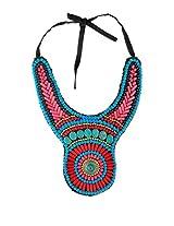 Art Mannia White Metal & Beads Neckpiece For Women (Arad21_Multicolored)