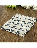 Birds Cotton Linen Cloth Curtain Pillowcase Handmade Fabric