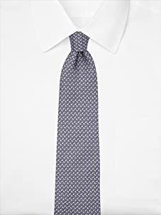 Nina Ricci Men's Geometric Pattern Tie, Grey