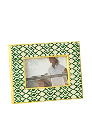 Shiraleah Hand-Painted Bone Picture Frame (Green)