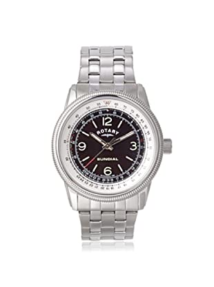 Rotary Men's GB00200-SP-19 Silver/Black Stainless Steel Watch