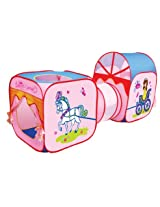 Children's Play Pop Up Tunnel Set Indoor/Outdoor Play House for Kids - Colours & Designs May Vary