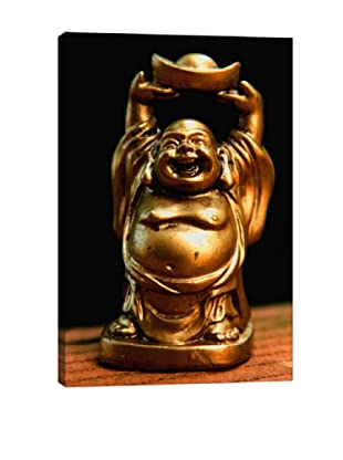 Golden Buddha Statue Photographic Giclée Canvas Print