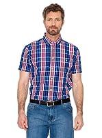 Cortefiel Camisa Cuadros (azul / rojo)