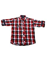 LITTLE MAN Cotton Boy's Shirt (LM10C3_16 , Red, 16)